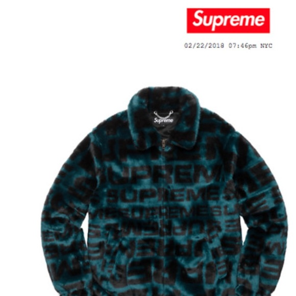 info for 16dd2 6ccef Supreme New York faux fur bomber repeater jacket